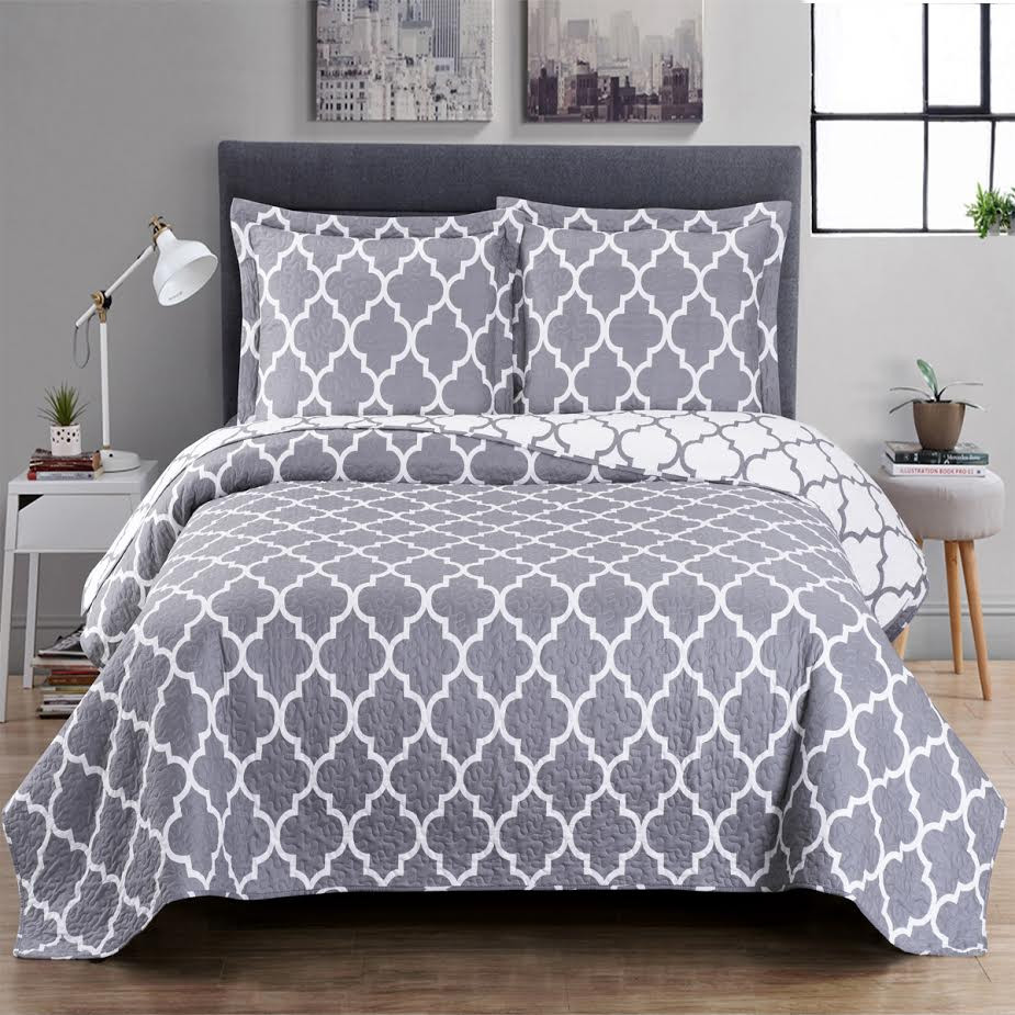 Quilt Sets Meridian Oversized Quilt Sets Cotton Blend Reversible Quilts