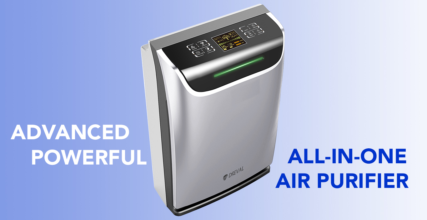 All In One Dreval D 950 Intelligent All In One Air Hepa Purifier Humidifier Uv Sterilizer Ion Generator Air Quality Sensor