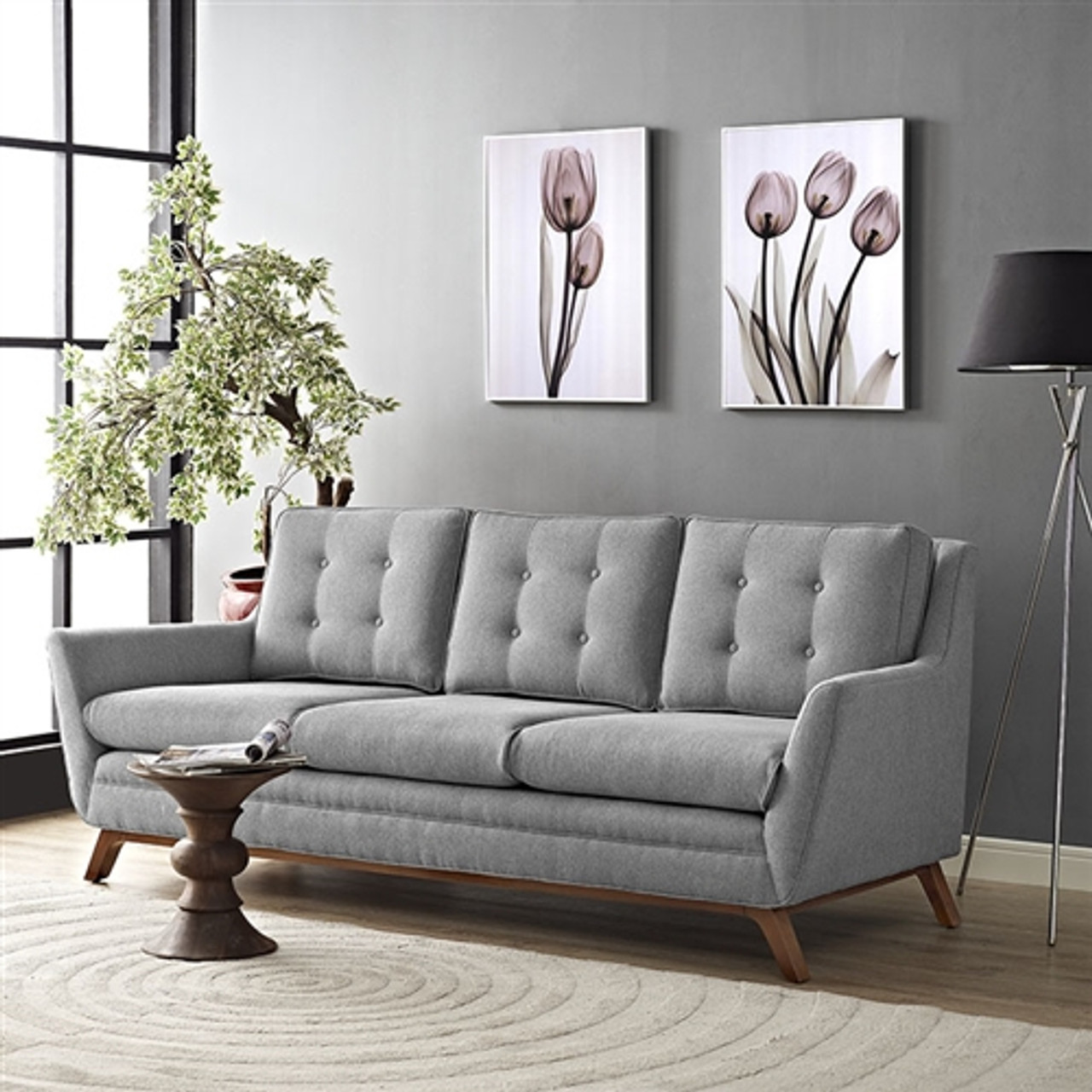 Modway Beguile Button Tufted Fabric Sofa Eei 1800