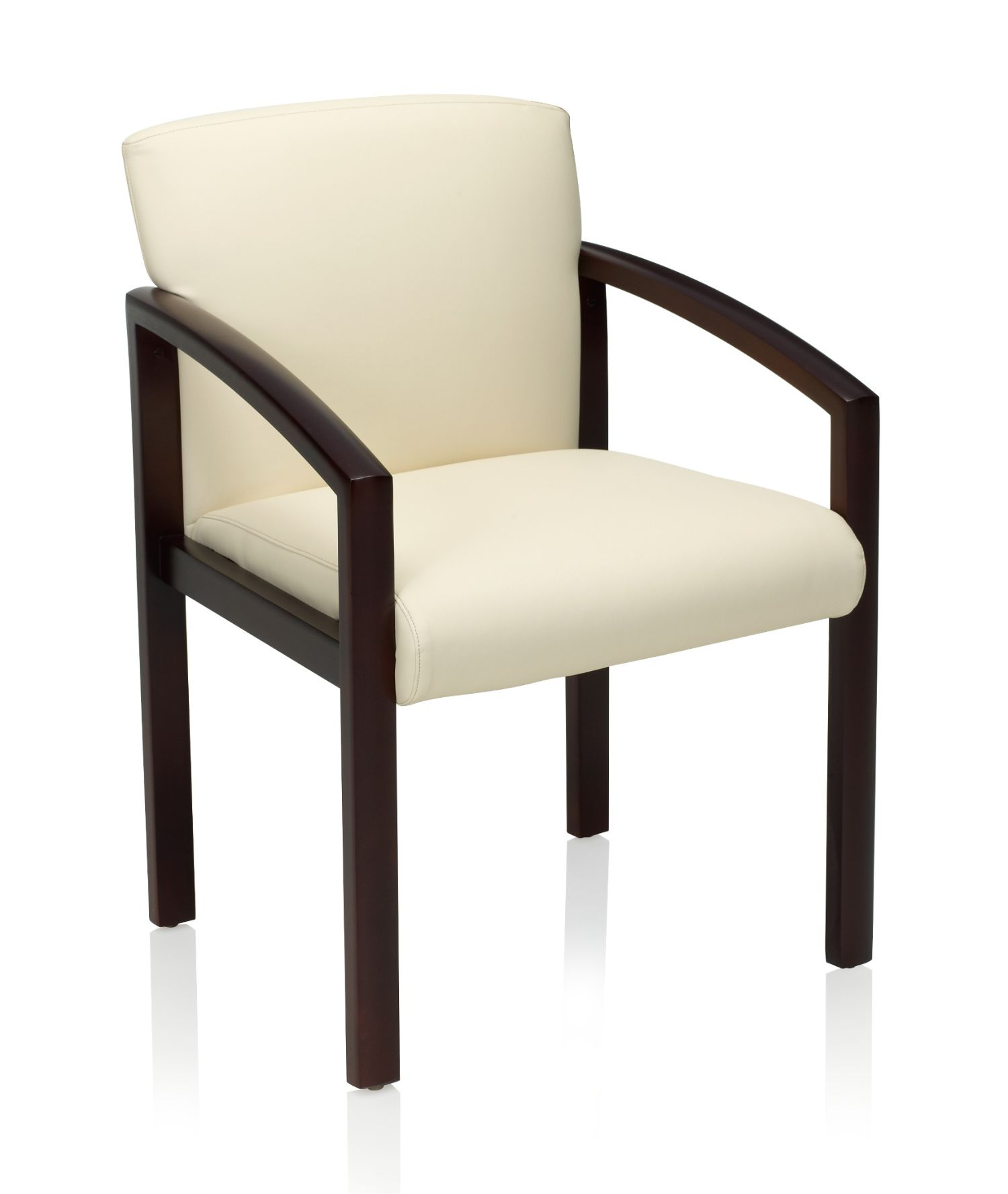 Ki Bantam Leather And Wood Guest Reception Chair
