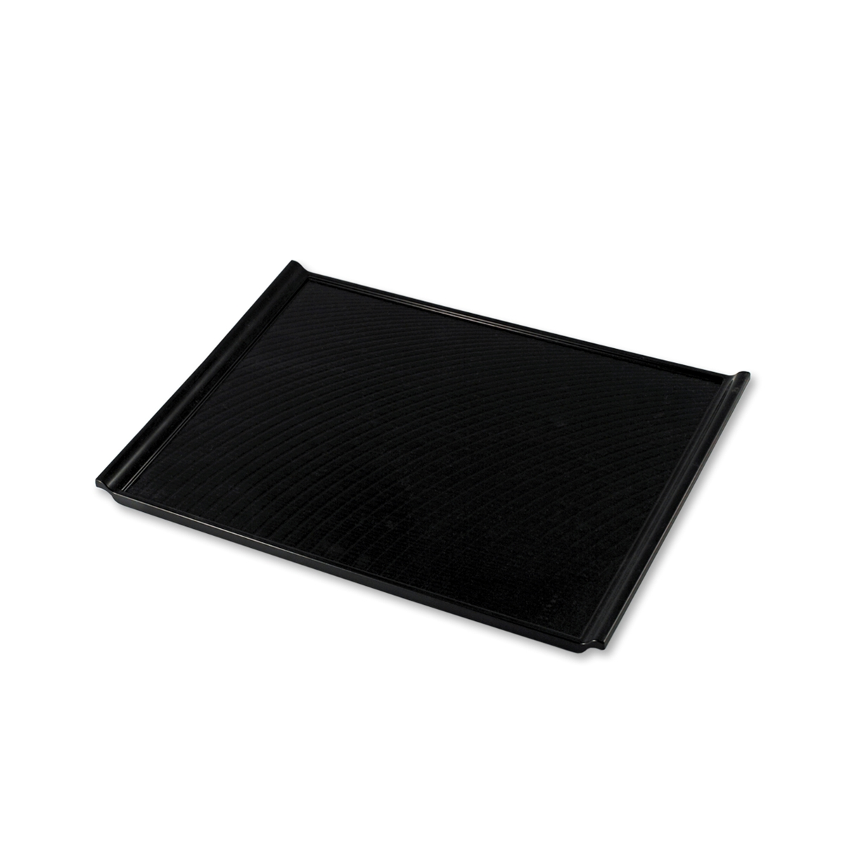 Black Serving Tray Non Slip Black Rectangular Serving Tray With Handles 15 55