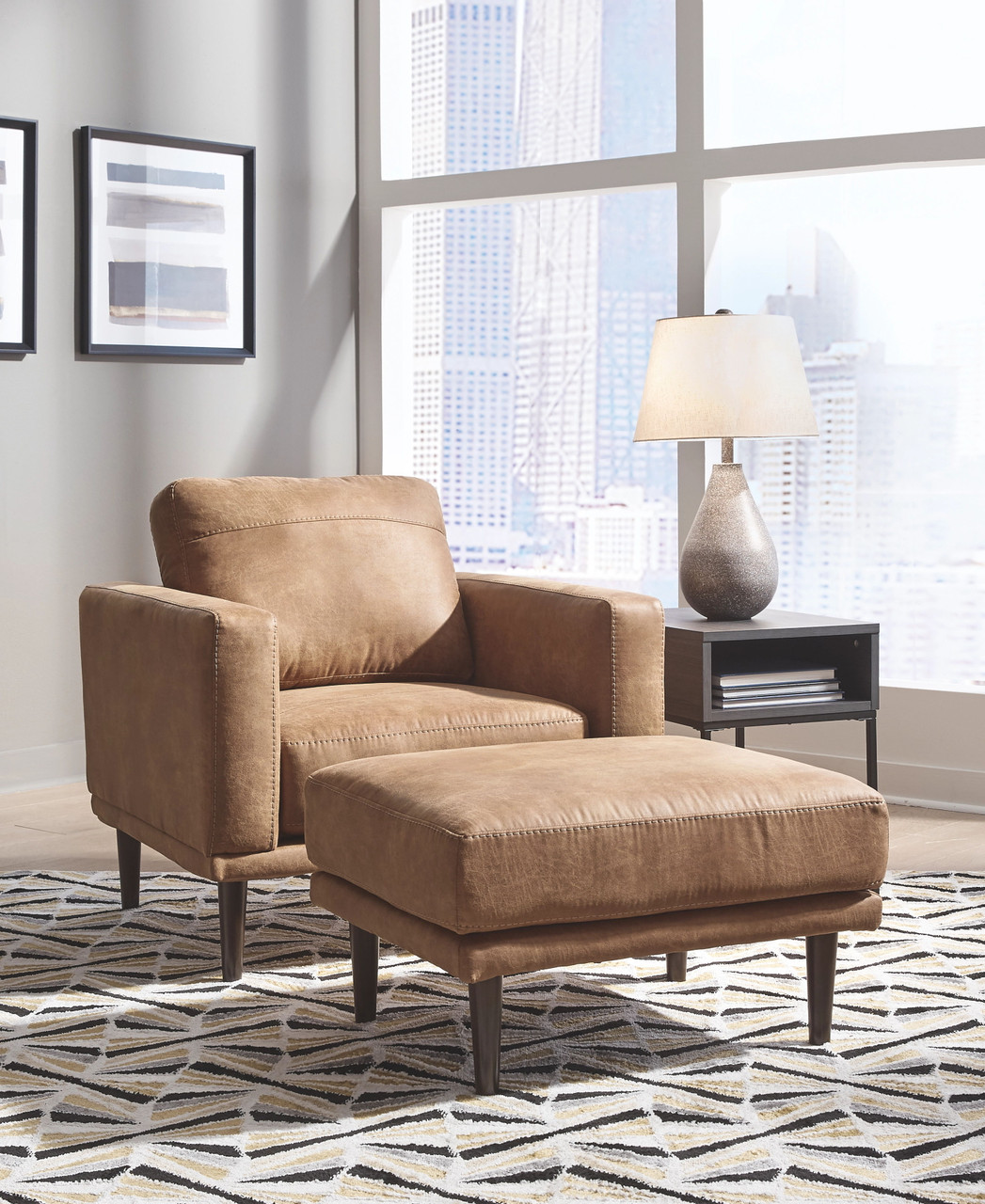 The Arroyo Caramel 2 Pc Chair With Ottoman Available At Bitney S Furniture And Mattress Company Serving Kalispell Mt
