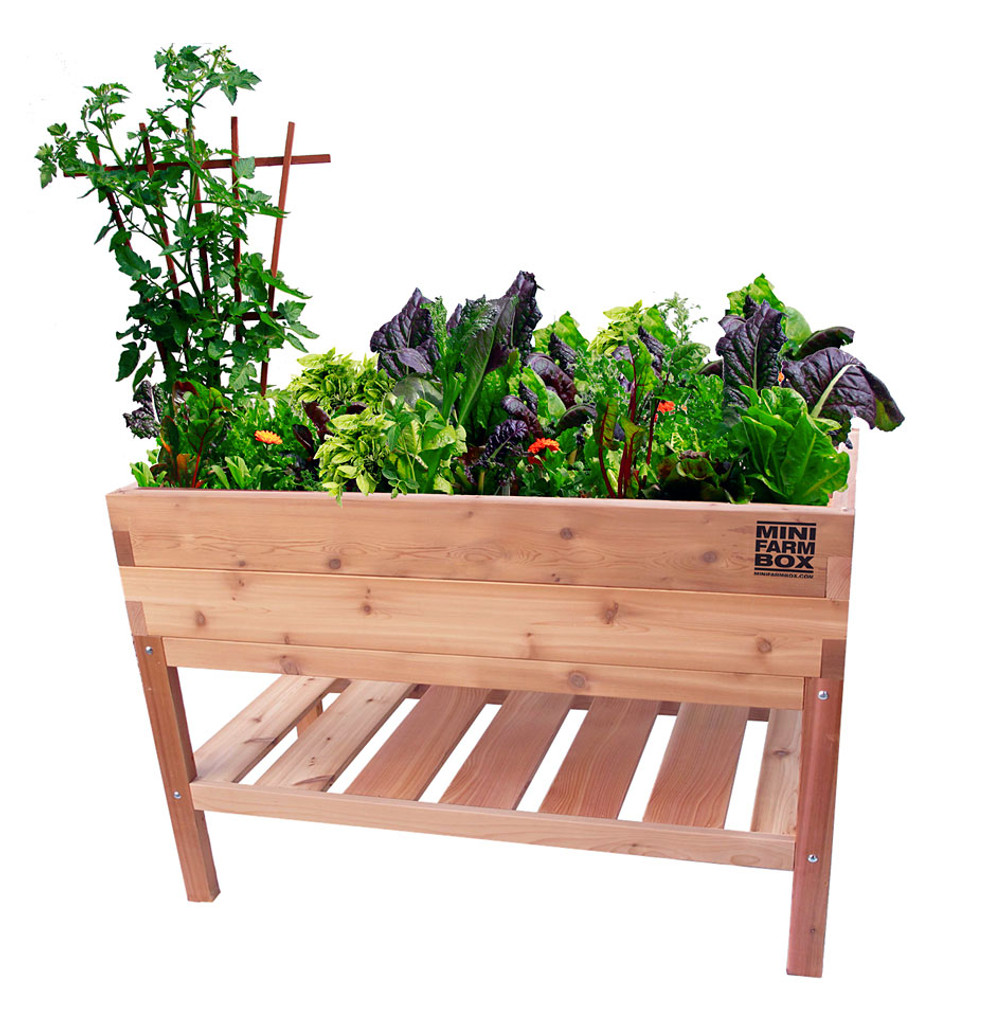 Planting Tables For Sale Rock Solid Cedar Planter With Bottom Shelf