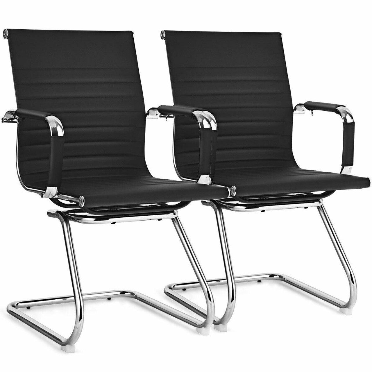 Cw Hw65402bk 2 Set Of 2 Office Guest Chairs Waiting Room Chairs Black