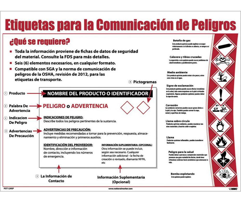 Poster In Spanish Spanish Hazcom12 Ghs Requirements Poster