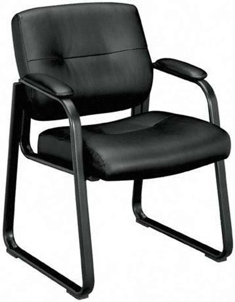 Basyx Plush Leather Office Guest Chair Vl693
