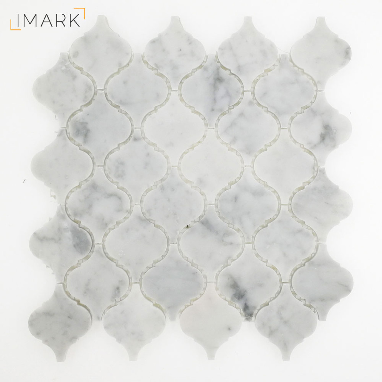 Arabesque Marble Tile Carrara White Marble Lantern Arabesque Mosaic Tile Polished Or