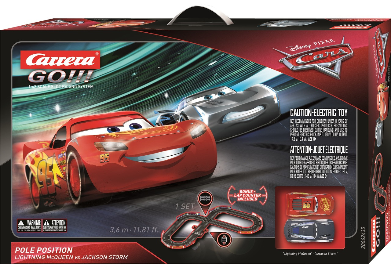 Cars 3 Jackson Storm Jouet 62435 Carrera Go Disney Pixar Cars 3 Pole Position Slot Car Set