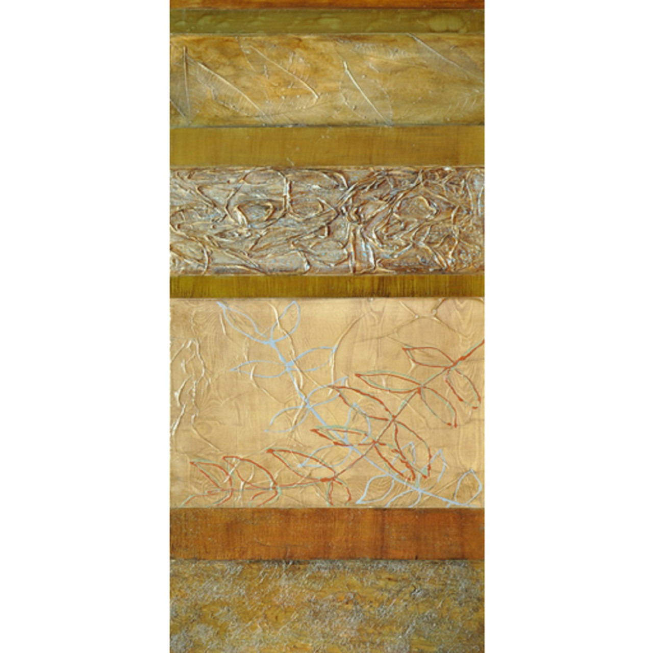 Olive Green Wall Decor 60 Olive Green And Rust Orange Textured Foliage Elegant Wall Décor 31304536