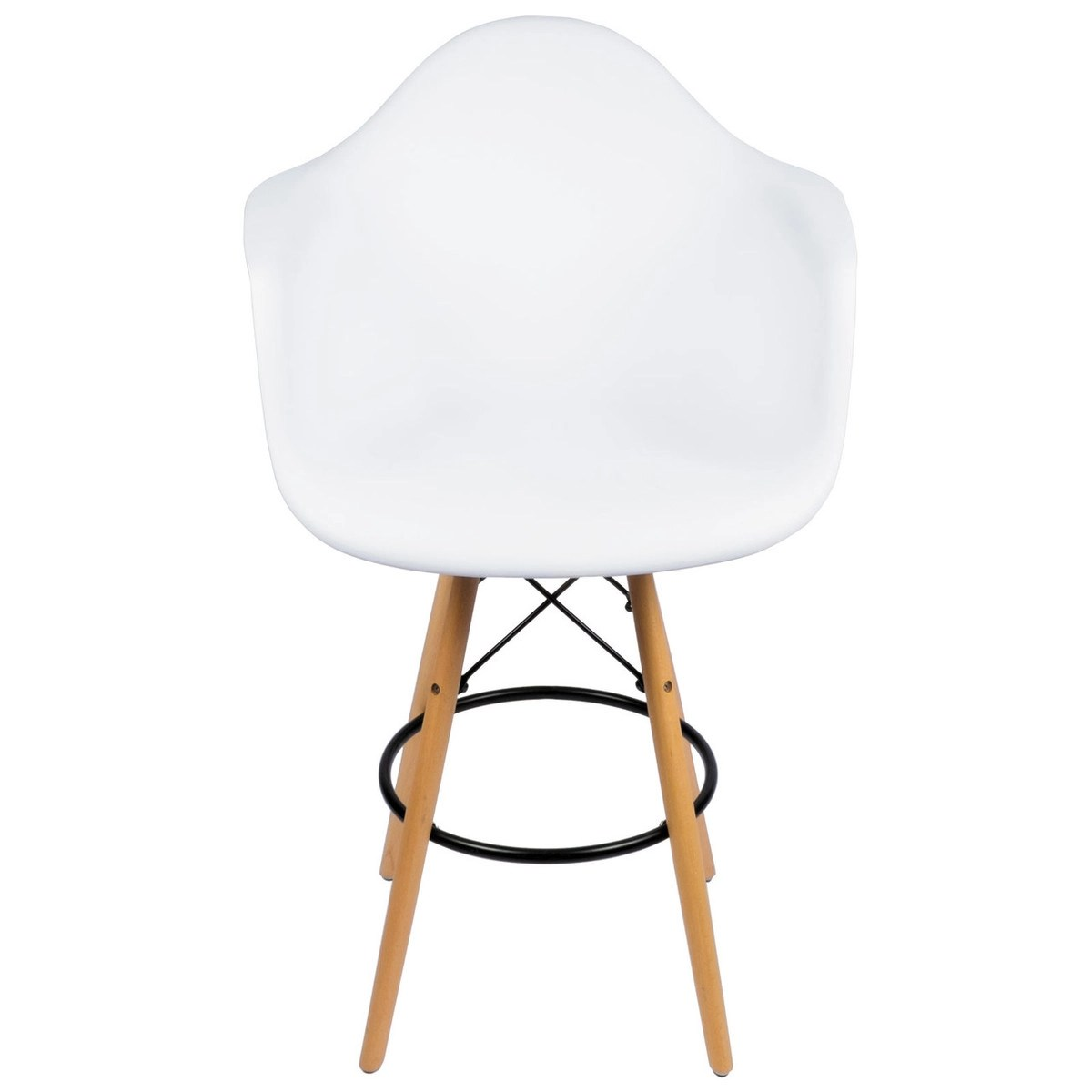 Eames Dsw Ethan Counter Stool W Arms White Replica