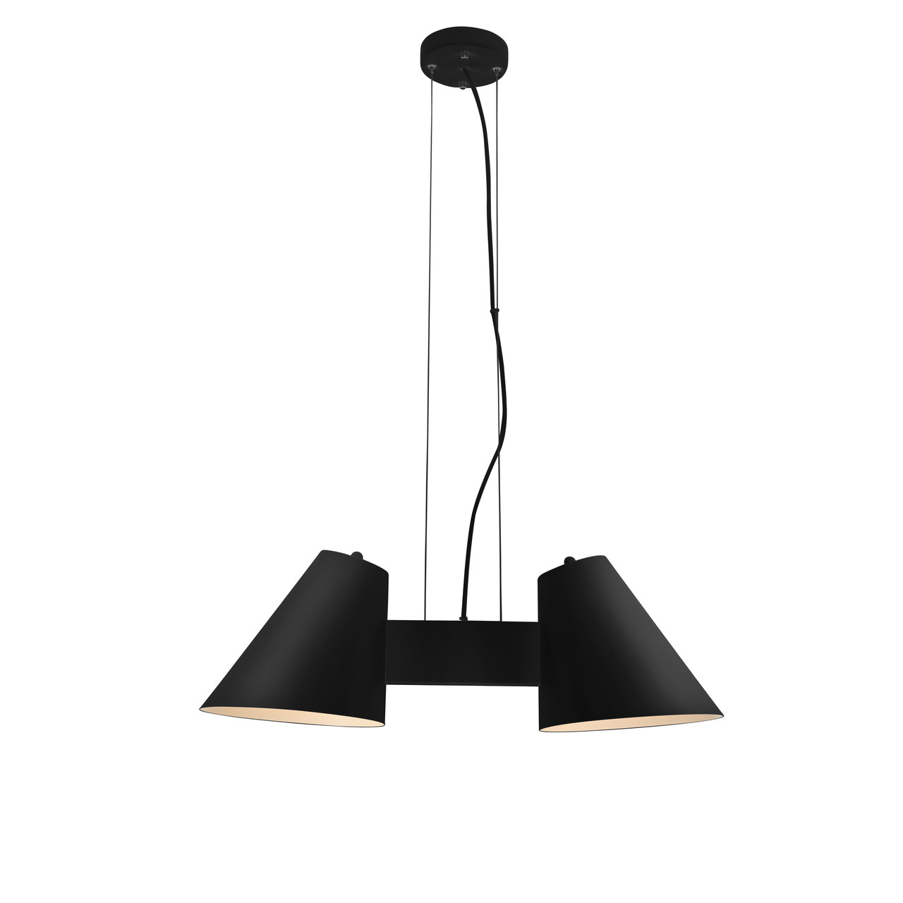 Led Chandelier Perugia 2 Light Led Chandelier In Black