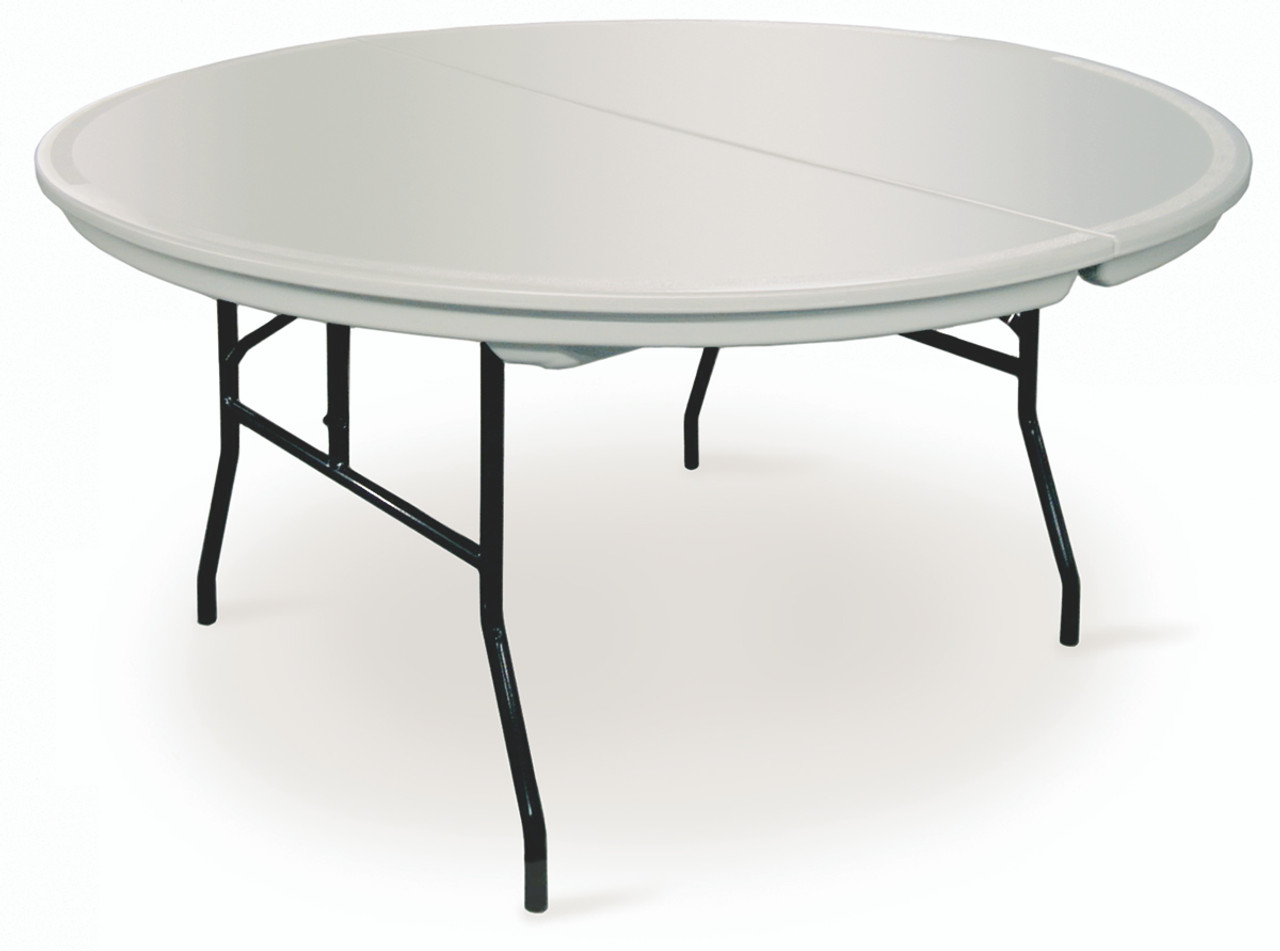 Round Plastic Tables Commercialite Round Plastic Folding Table Usa Made