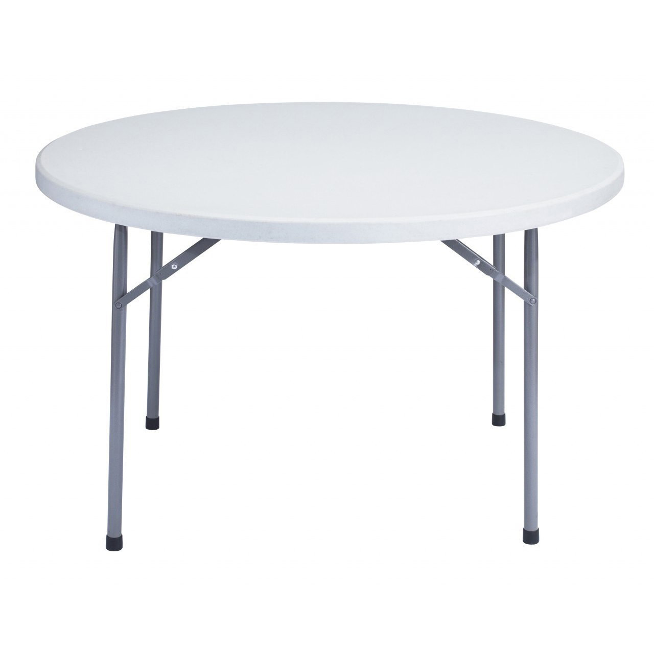 Round Plastic Tables Titan Pro 4 Ft Round Plastic Folding Table Solid One Piece Top Locking Steel Frame