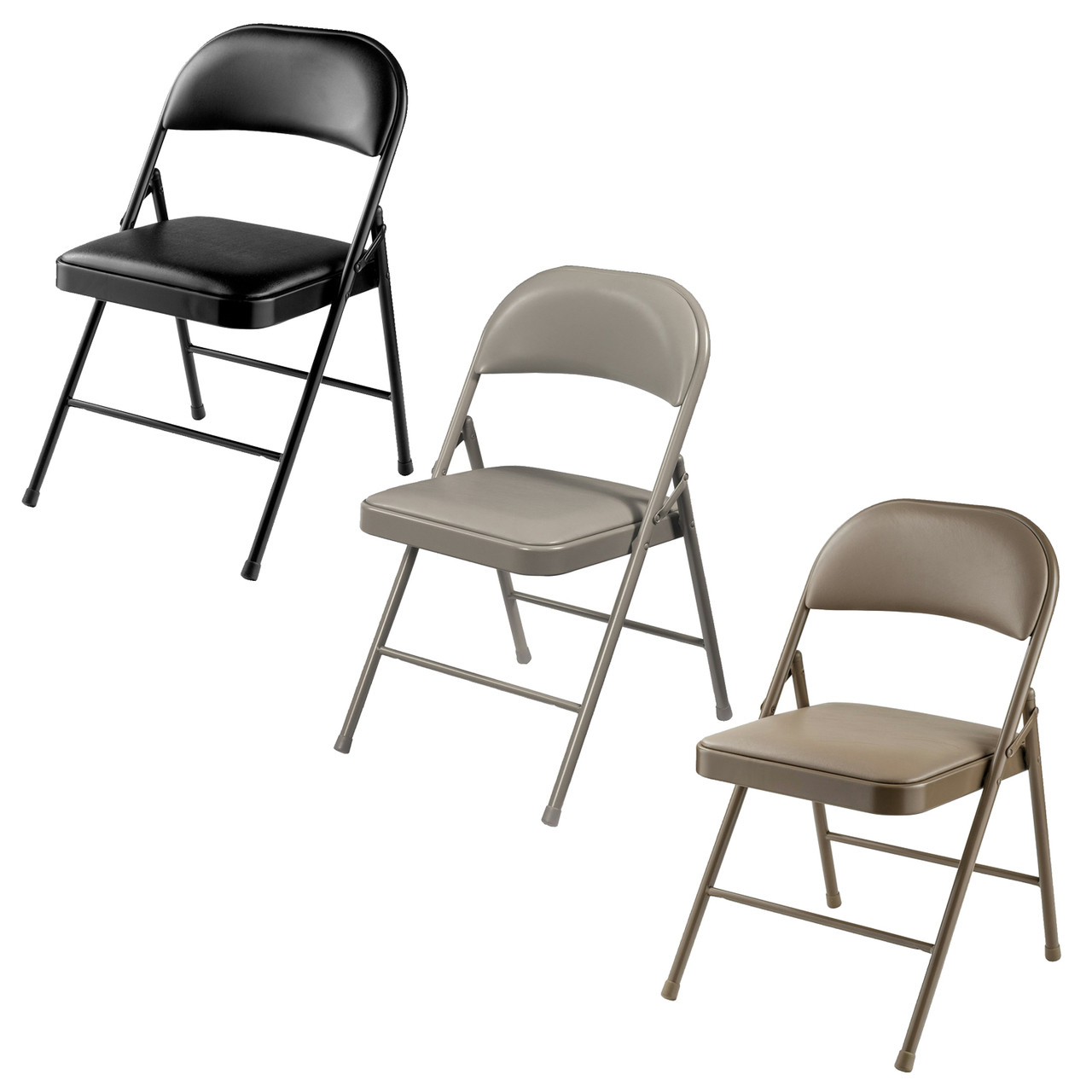 Chairs Folding Commercialine Vinyl Padded Folding Chair By National Public Seating