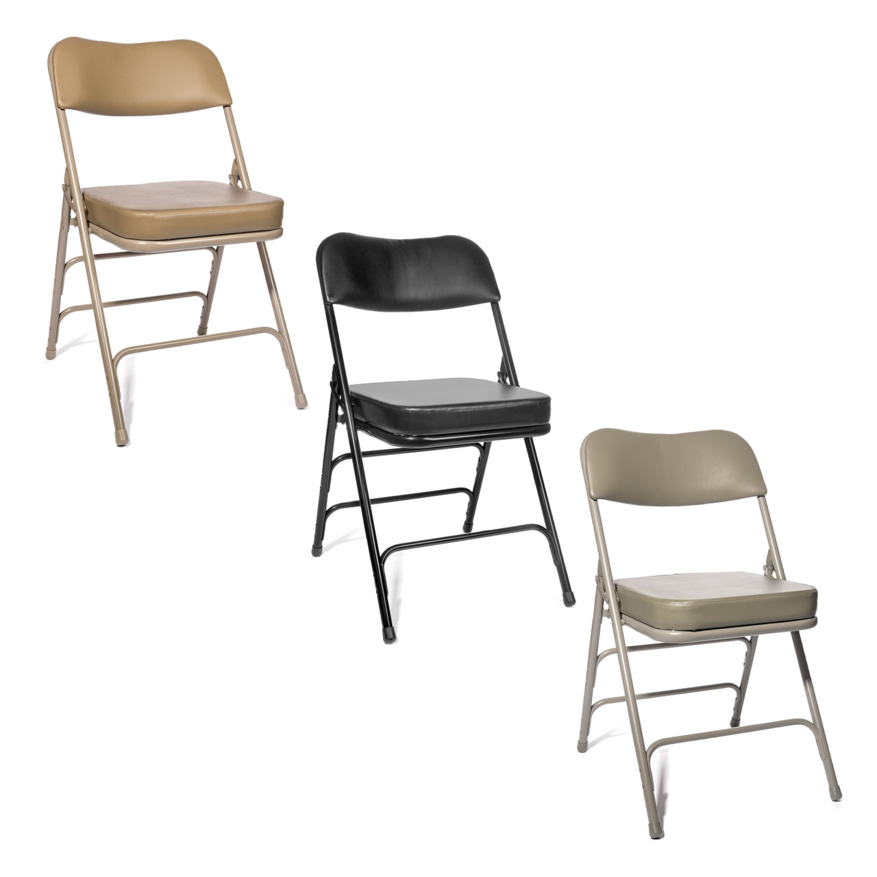 Chairs Folding Xl Series 2 Inch Vinyl Padded Folding Chair 2