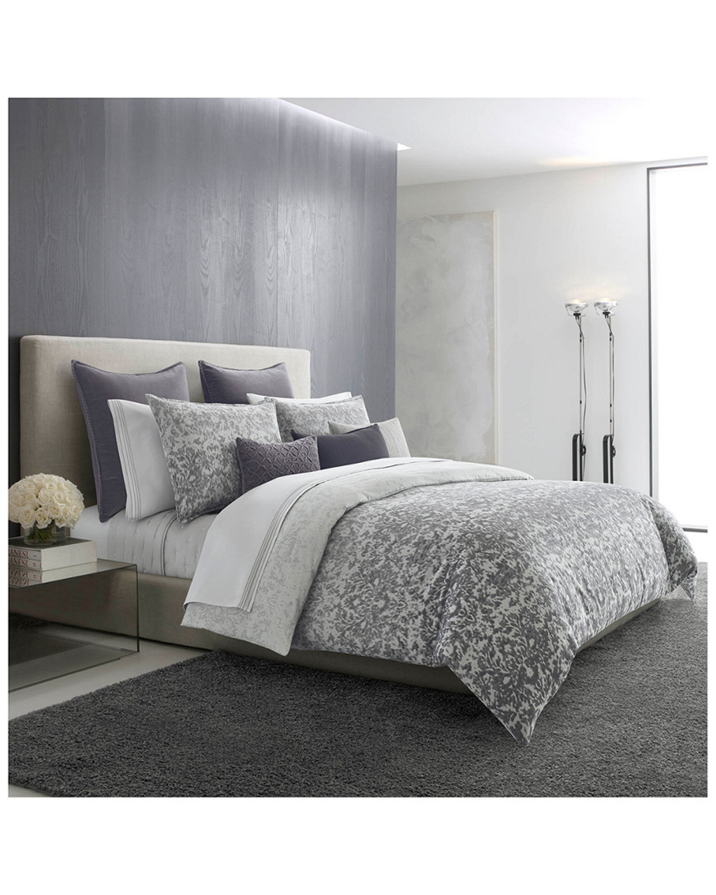 Damask Duvet Vera Wang Degrade Damask Jacquard Gray Duvet Collection 3030714511
