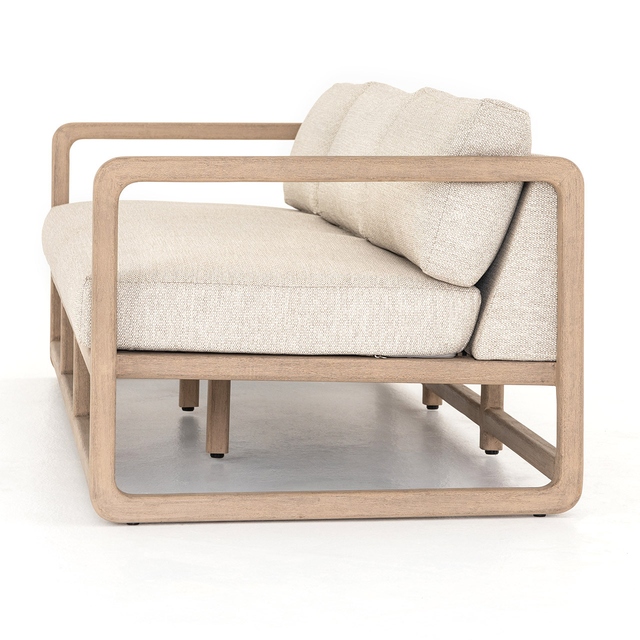 Cardiff Outdoor Teak Sofa Clutch Modern