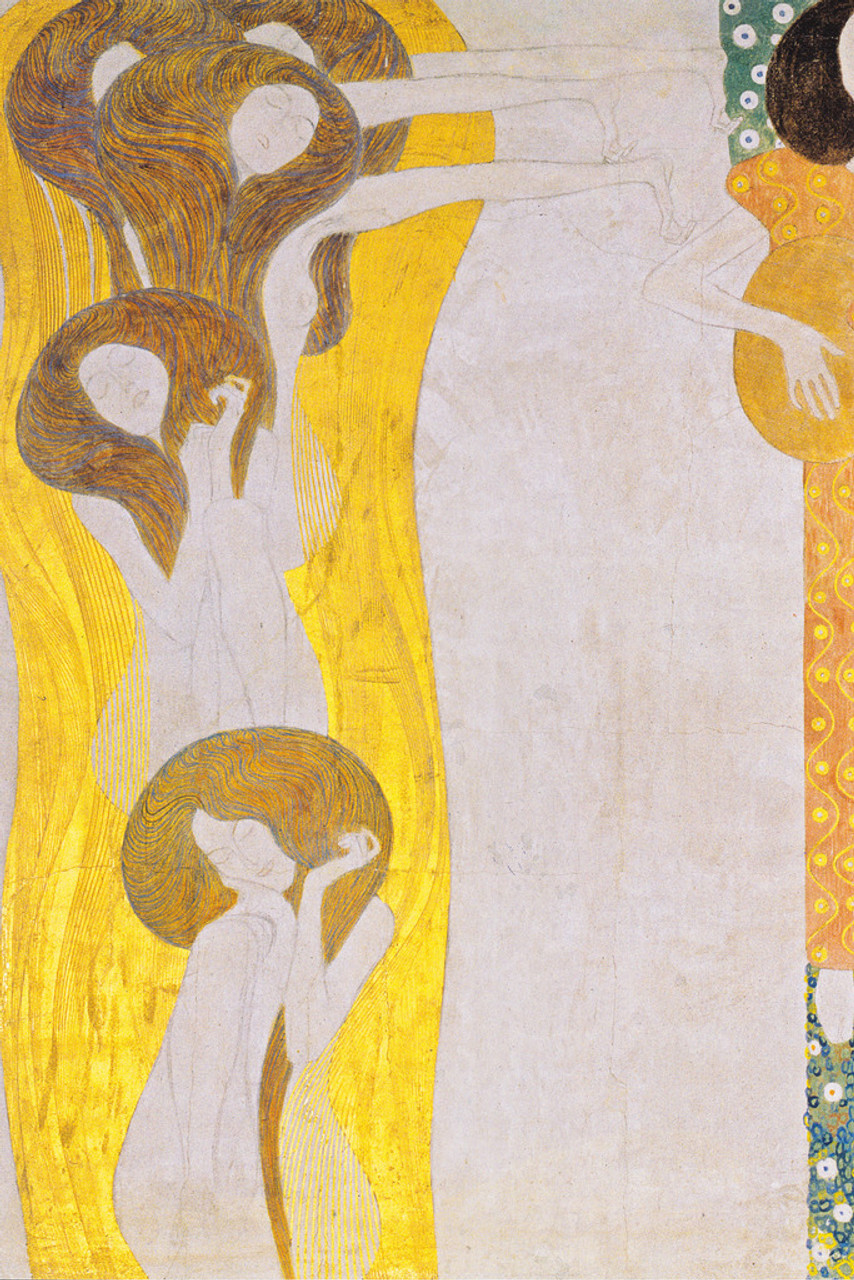 Gustav Klimt Beethoven Frieze The Arts Cool Wall Decor Art Print Poster 12x18 Poster Foundry