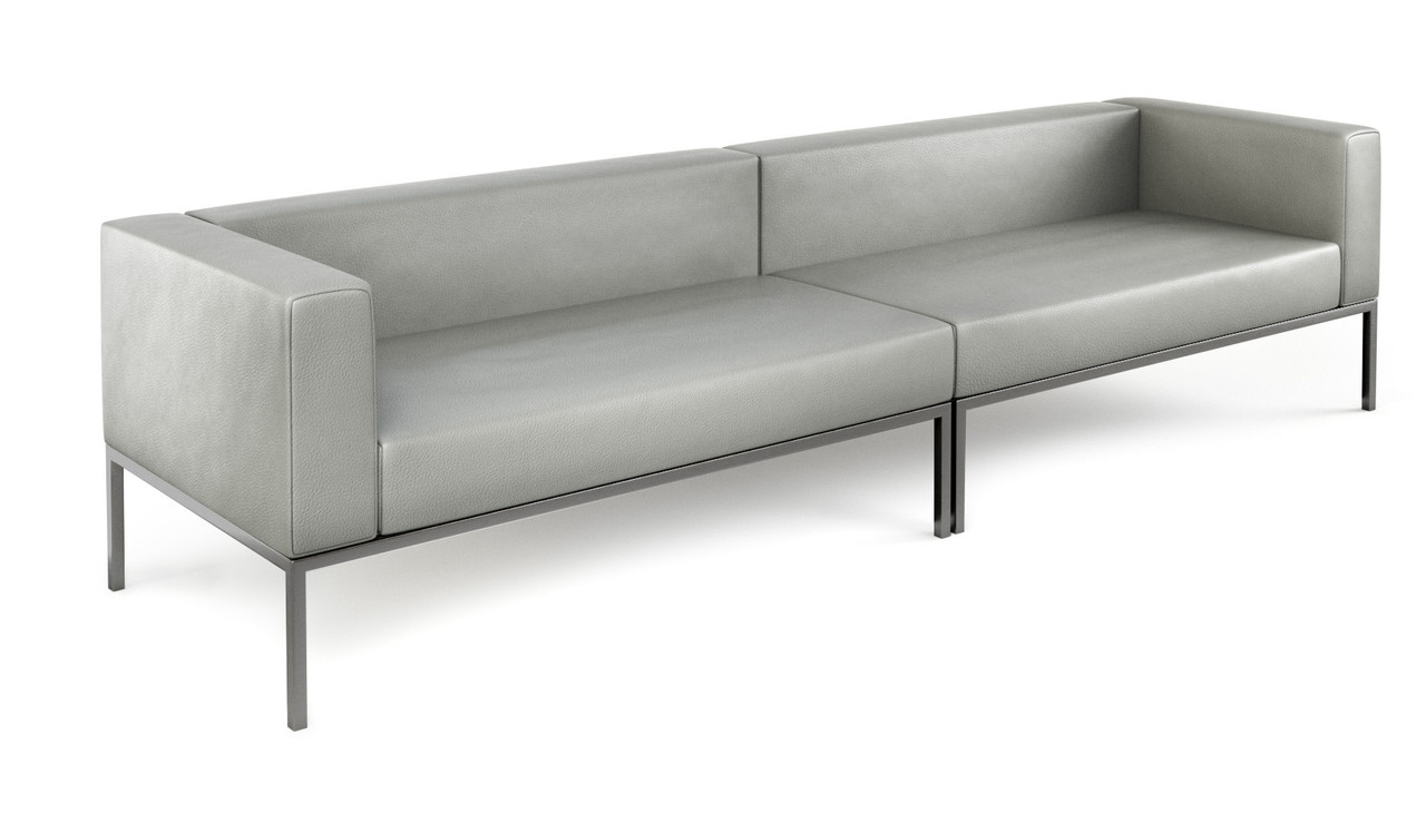 Lugano Modular Long Sofa Fully Welded Gunmetal Frame Made In Usa Modernlinefurniture