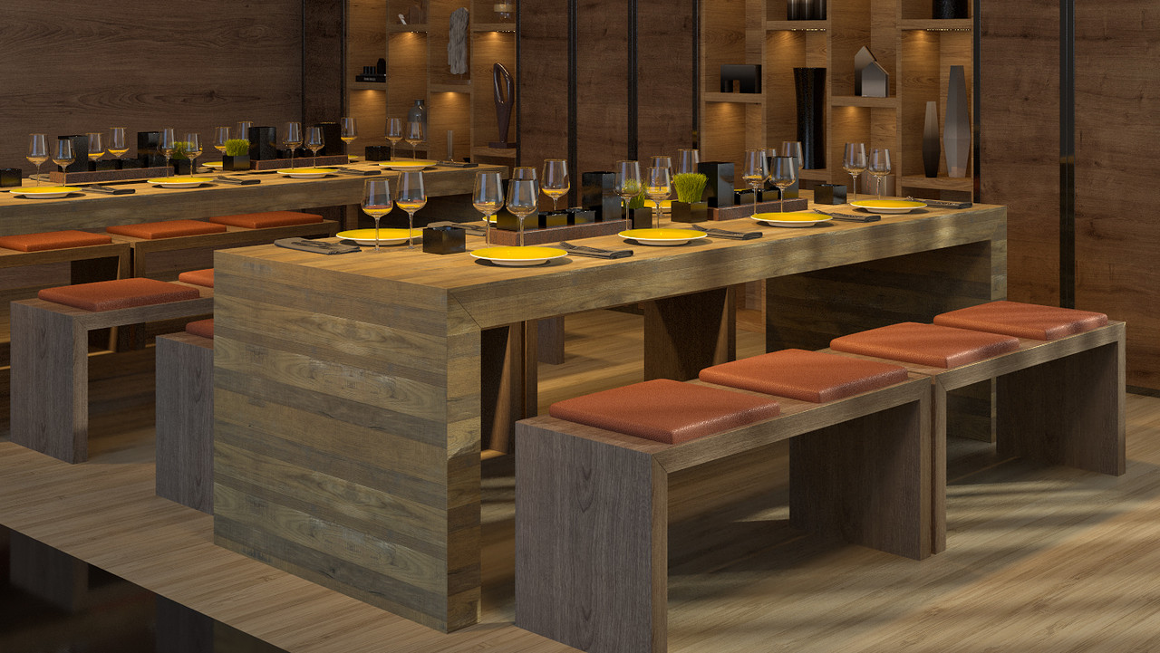 Reastaurant Tables Communal Bar Table Available In Many Finishes