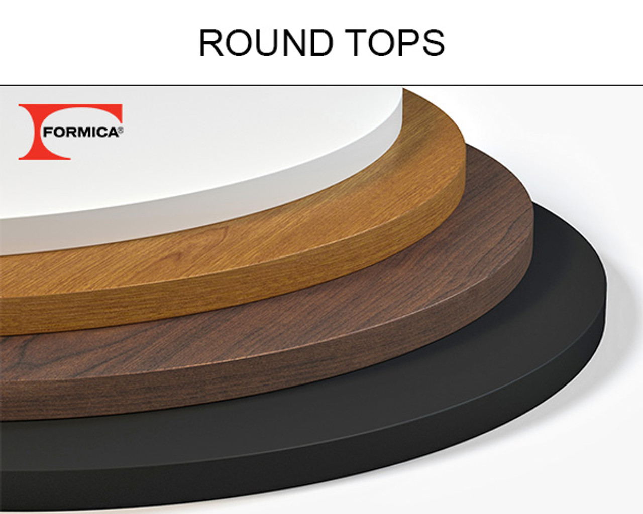 Round Table Tops Formica Round Table Top Many Sizes Available Handcrafted In Usa