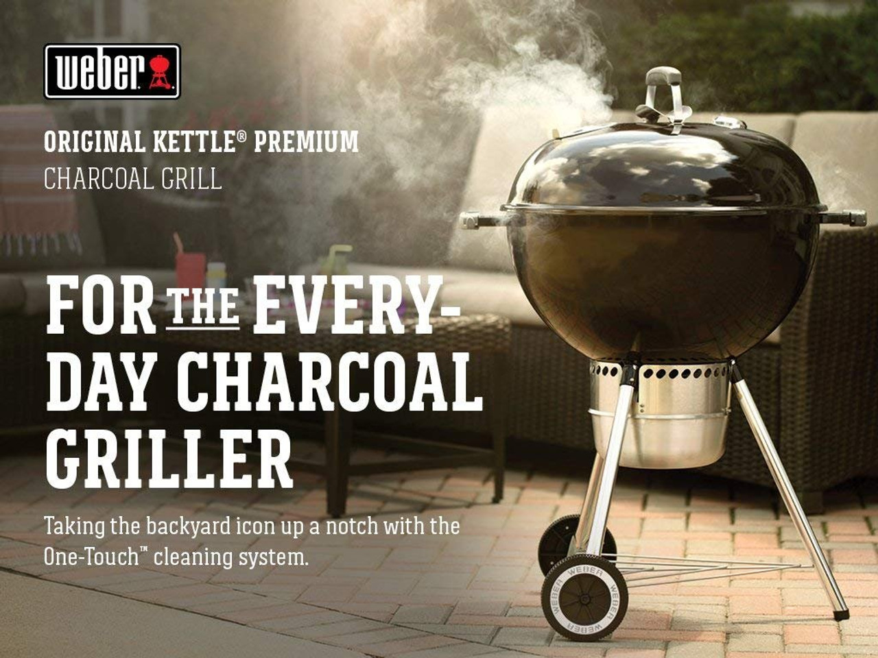 Weber Grill One Touch Weber 14401001 Original Kettle Premium Charcoal Grill 22 Inch Black