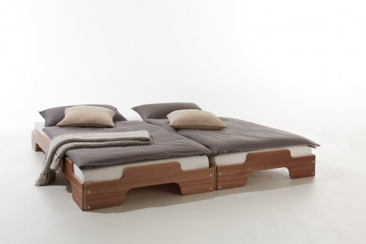 Stacking Bed Comfort In Walnut Mueller Small Living Usa