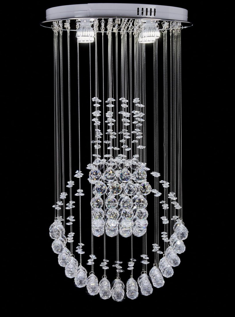 Led Chandelier Diamond Life Modern Rain Drop Led Chandelier With Crystal Balls Ceiling Lighting Fixture W16