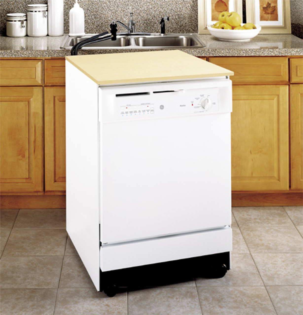 Ge Convertible Portable Dishwasher Gsc3400jww Ge Appliances