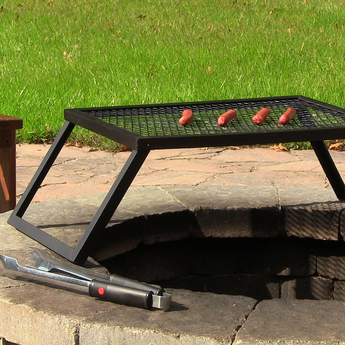 Grill 24 Sunnydaze Portable Heavy Duty Campfire Cooking Grill 24 Inch Long