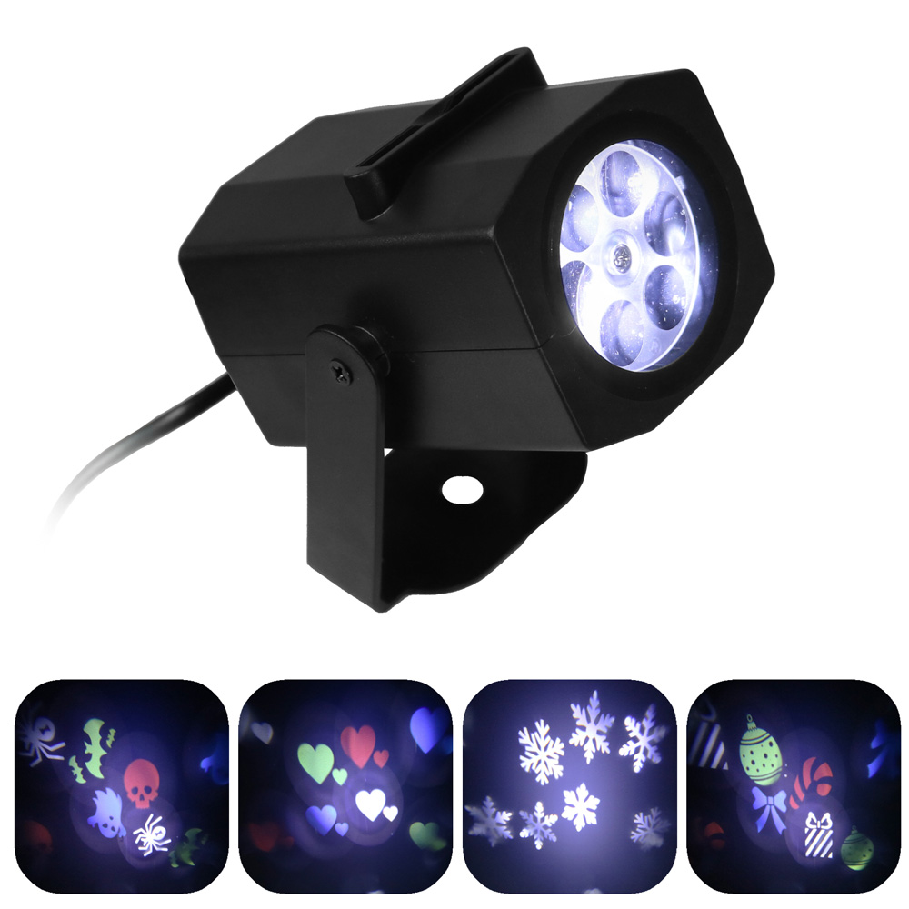 Light Projector Sunnydaze Indoor Led Projector Lights With 4 Multi Color Interchangeable Slides Halloween Christmas Snowflakes