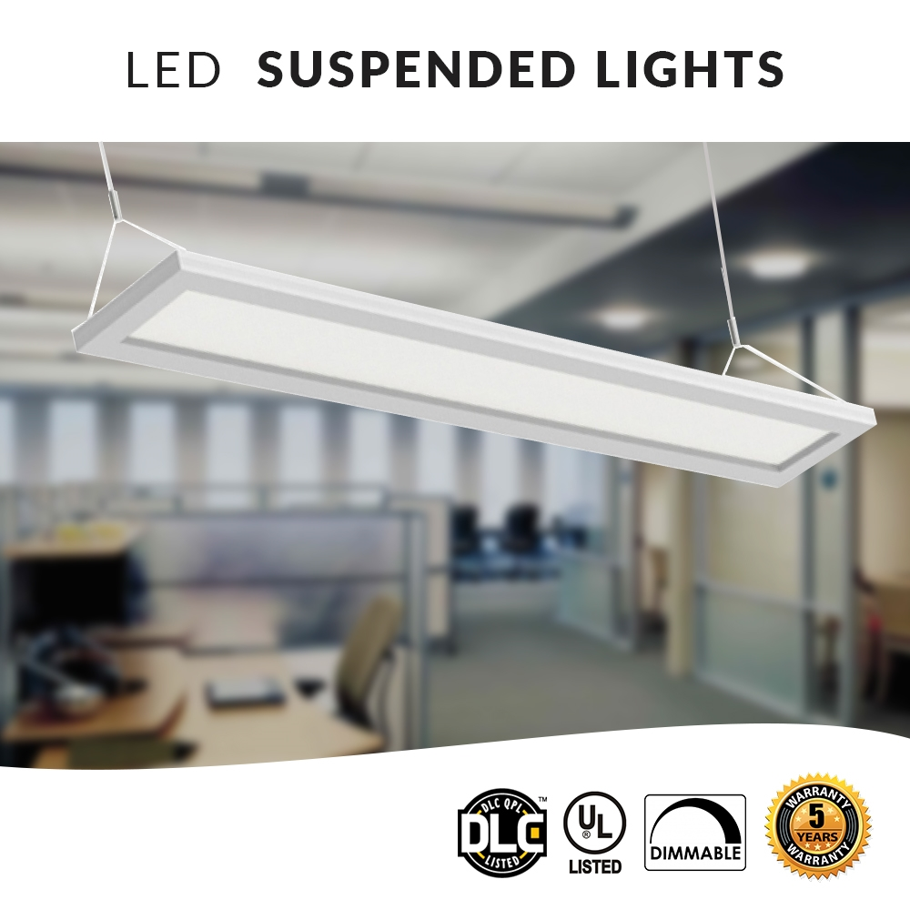 Led Office Lights Hanging Led Panel Direct Indirect Office Light 4ft 40w