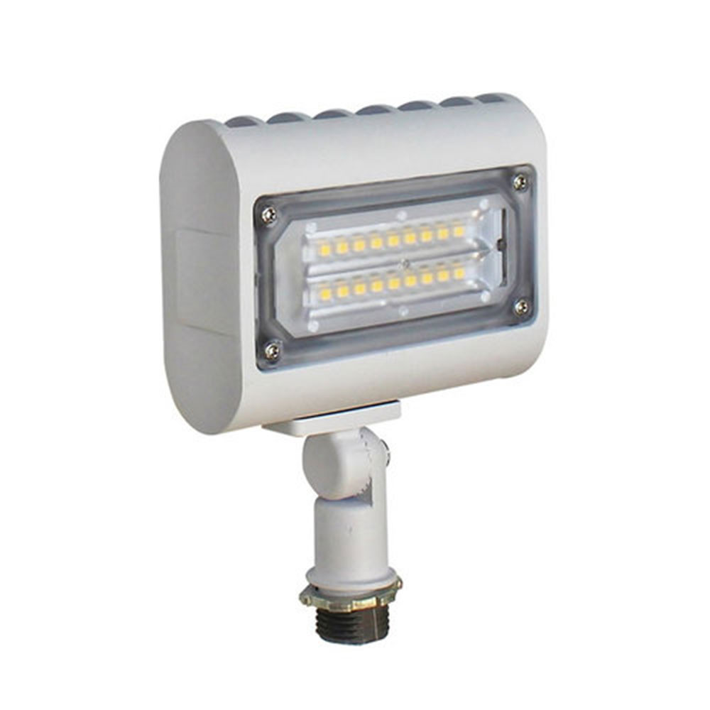 15 Watt Led Led Landscape Light Can Be Used For All Led Outdoor Flood Light Requirements 15 Watt 1600 Lumens With Adjustable Knuckle Mount White Housing