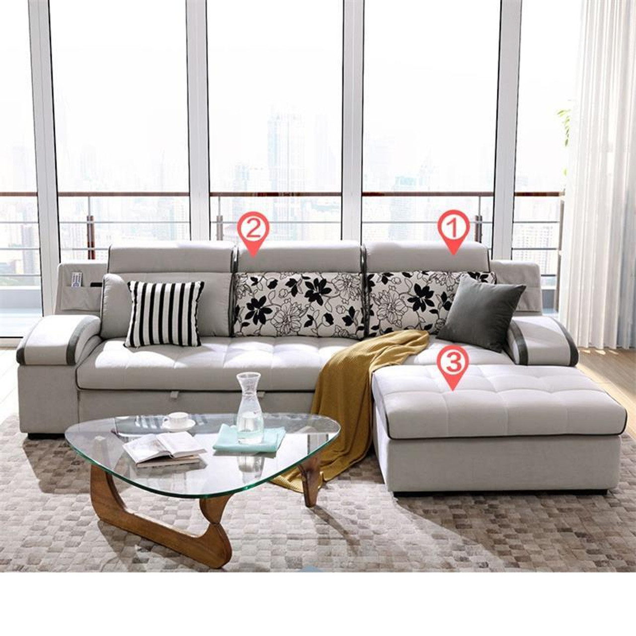 Mobili Furniture Copridivano Meble Meuble De Maison Couch Puff Mobili Per La Casa Pouf Moderne Mobilya Mueble Set Living Room Furniture Sofa