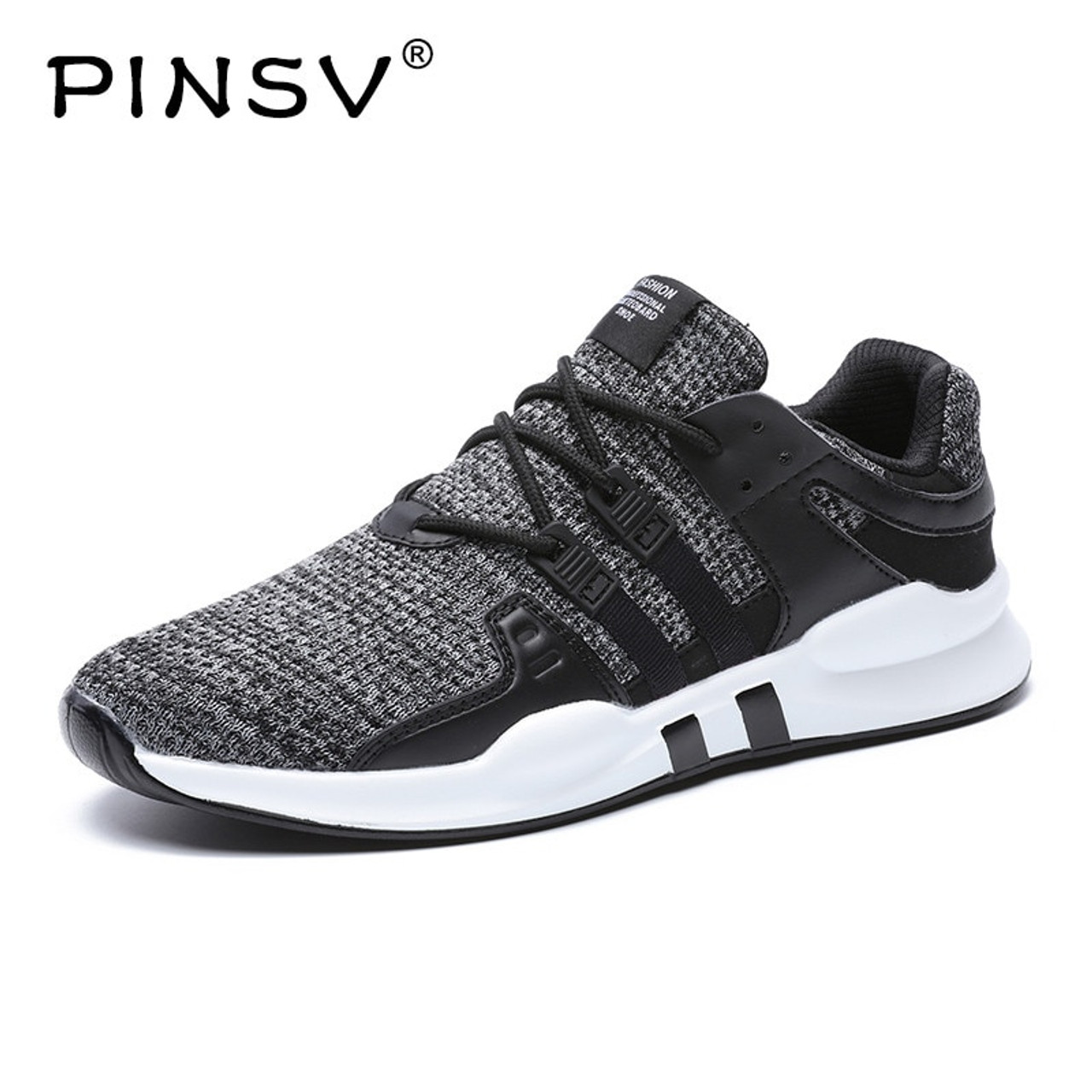 Chaussure Homme Pinsv Summer Shoes Men Sneakers Breathable Casual Loafers Men Shoes Black Sneakers Mens Trainers Chaussure Homme