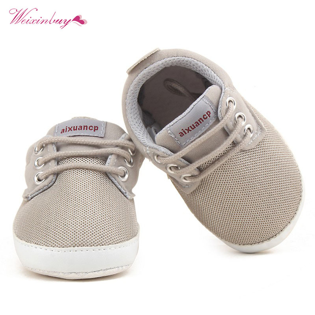 Newborn Crib Shoes Newborn Baby Boy Shoes First Walkers Spring Autumn Baby Boy Soft Sole Shoes Infant Canvas Crib Shoes 18 M