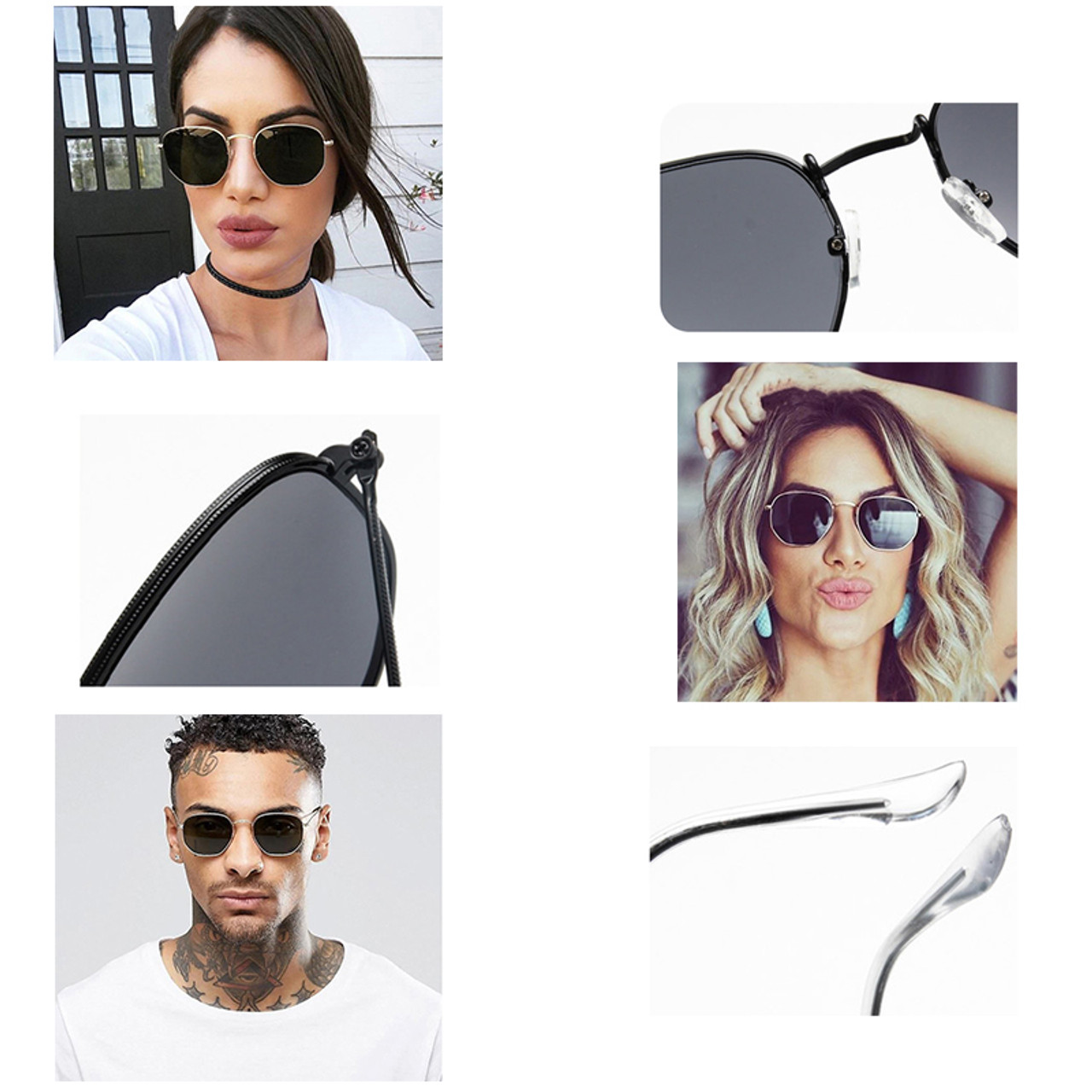 Mirror Frame Glasses Wish Club Small Sunglasses Women Vintage Sunglasses 2018 Polygon 90s Sun Glasses Lady Retro Mirror Eyewear Frame Glasses Oculos