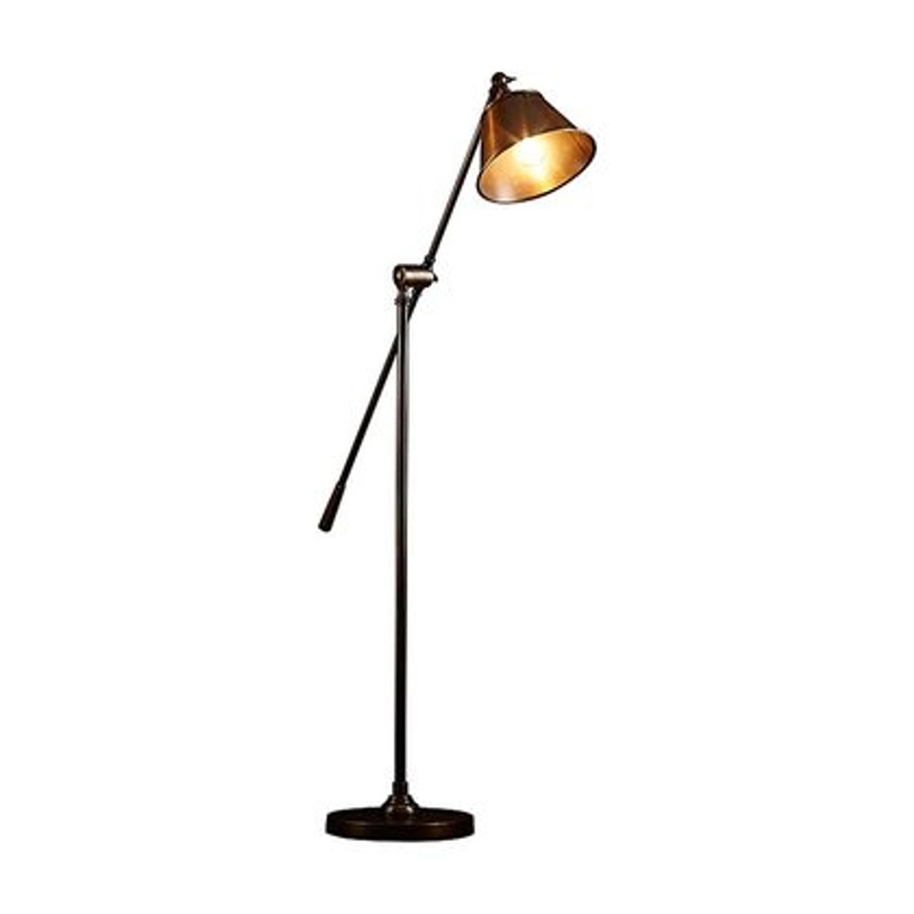 Winslow Antique Brass Floor Lamp Zest Lighting
