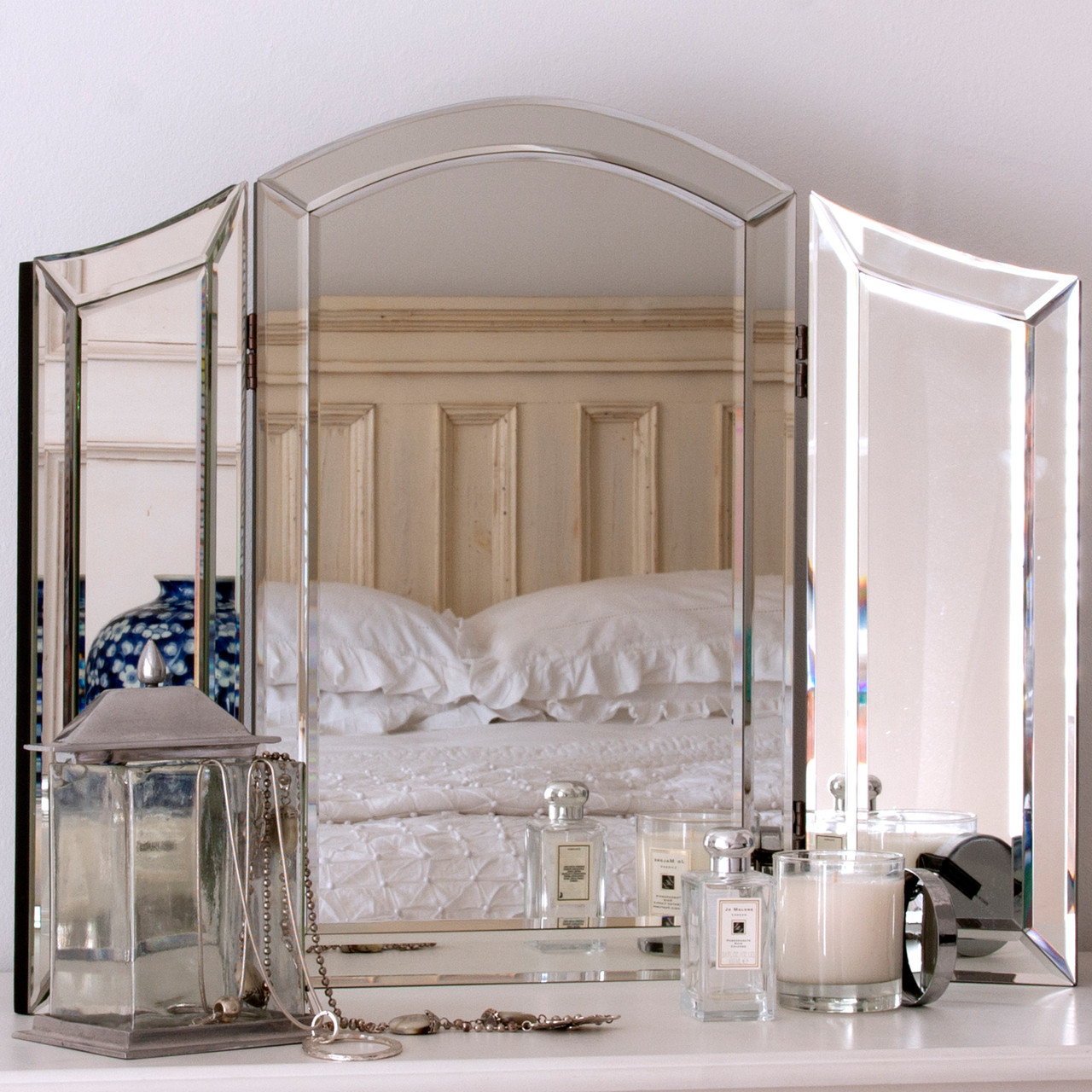 Decorative Mirror Table All Glass Dressing Table Mirror