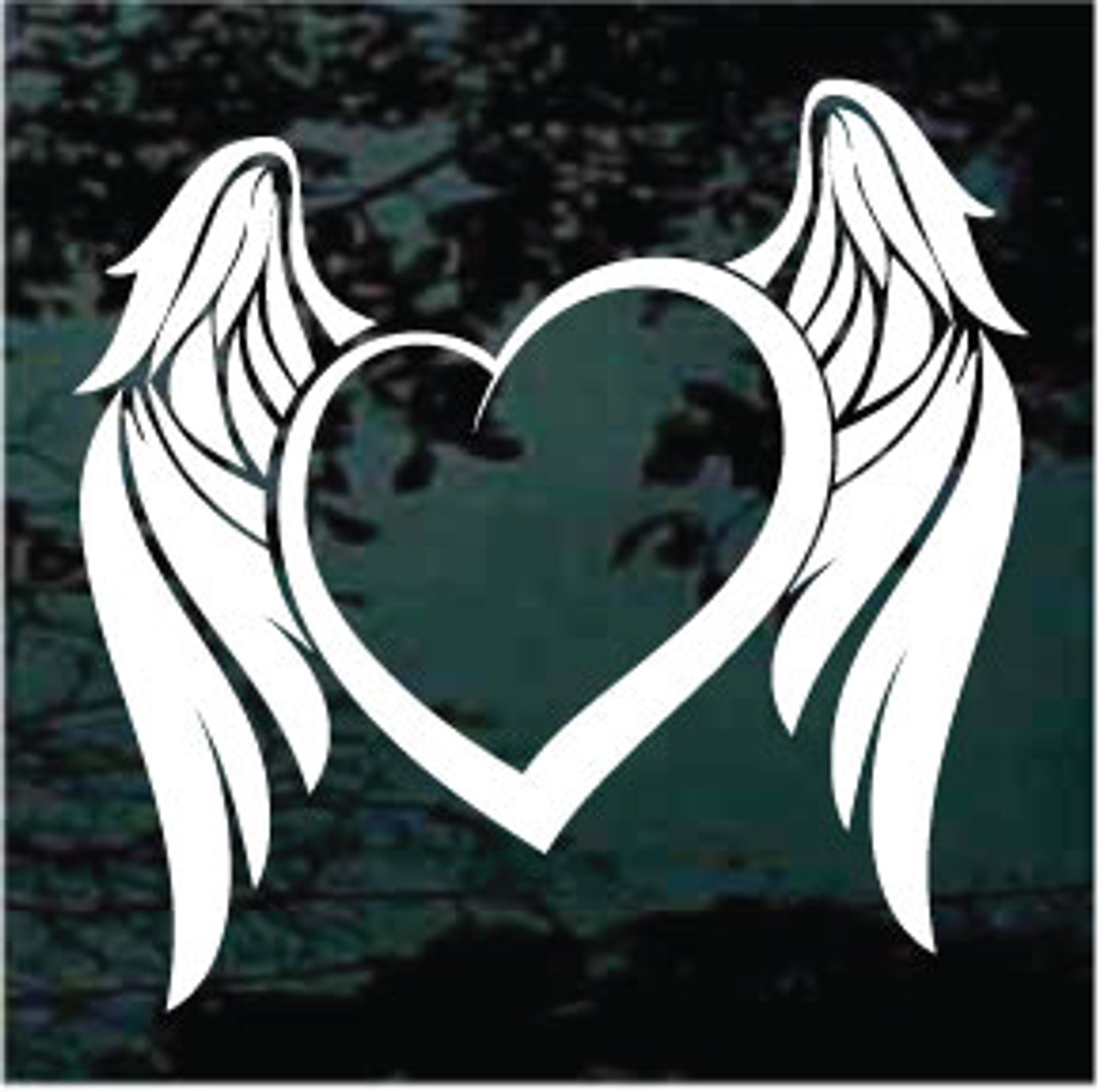 Stickers Bordeaux Angel Wings Heart Decals