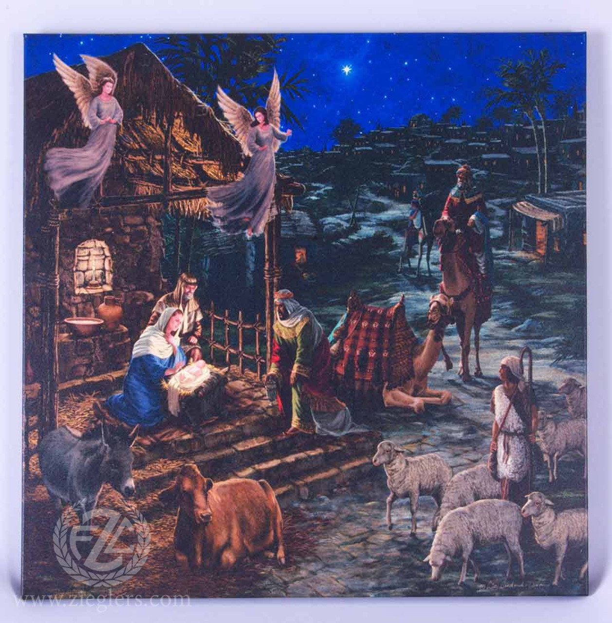 Wall Art Credence Nativity Wall Art Canvas Lighted L Goodrick Dillon 20