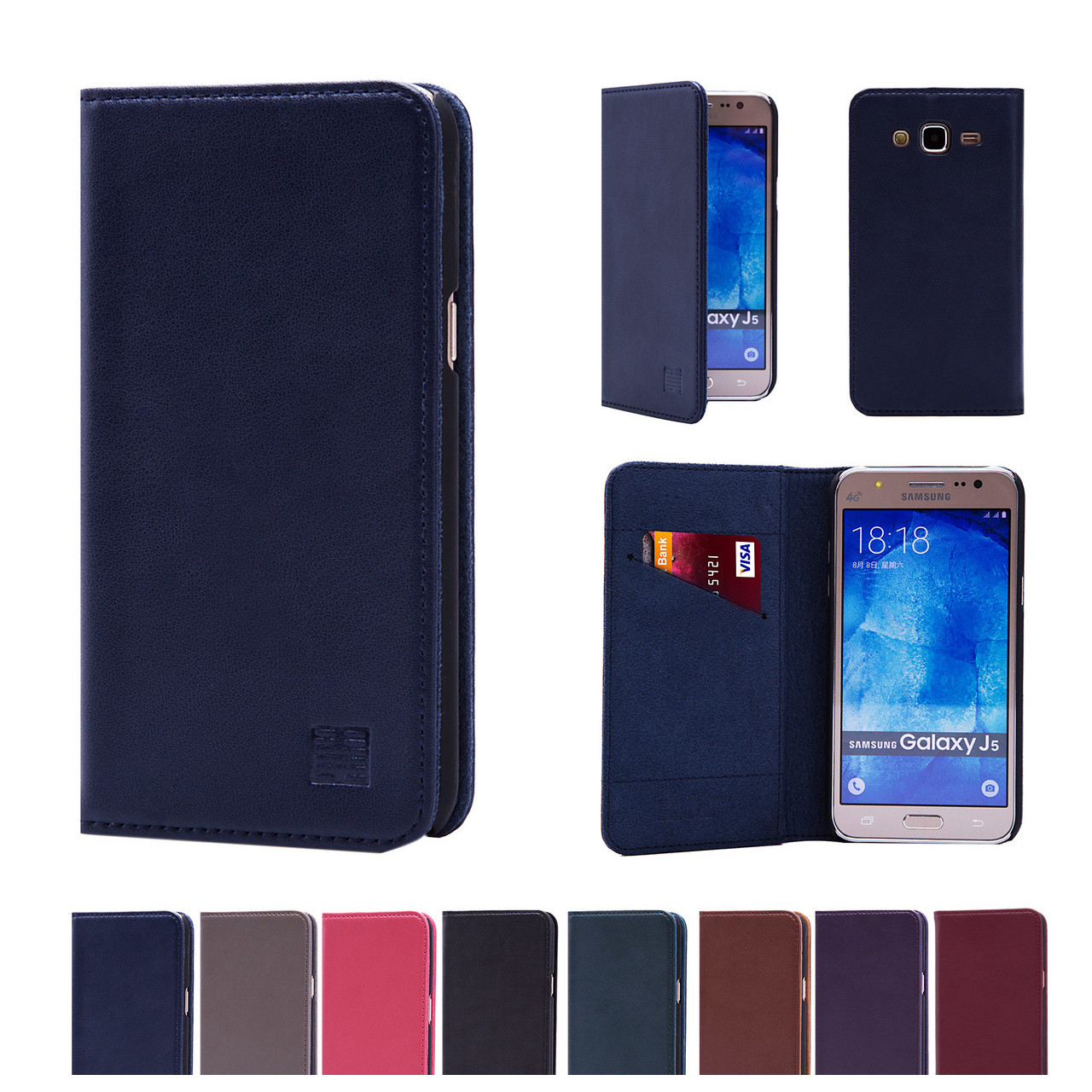 Samsung Galaxy J5 2015 Samsung Galaxy J5 2015 Classic Real Leather Book Wallet Case