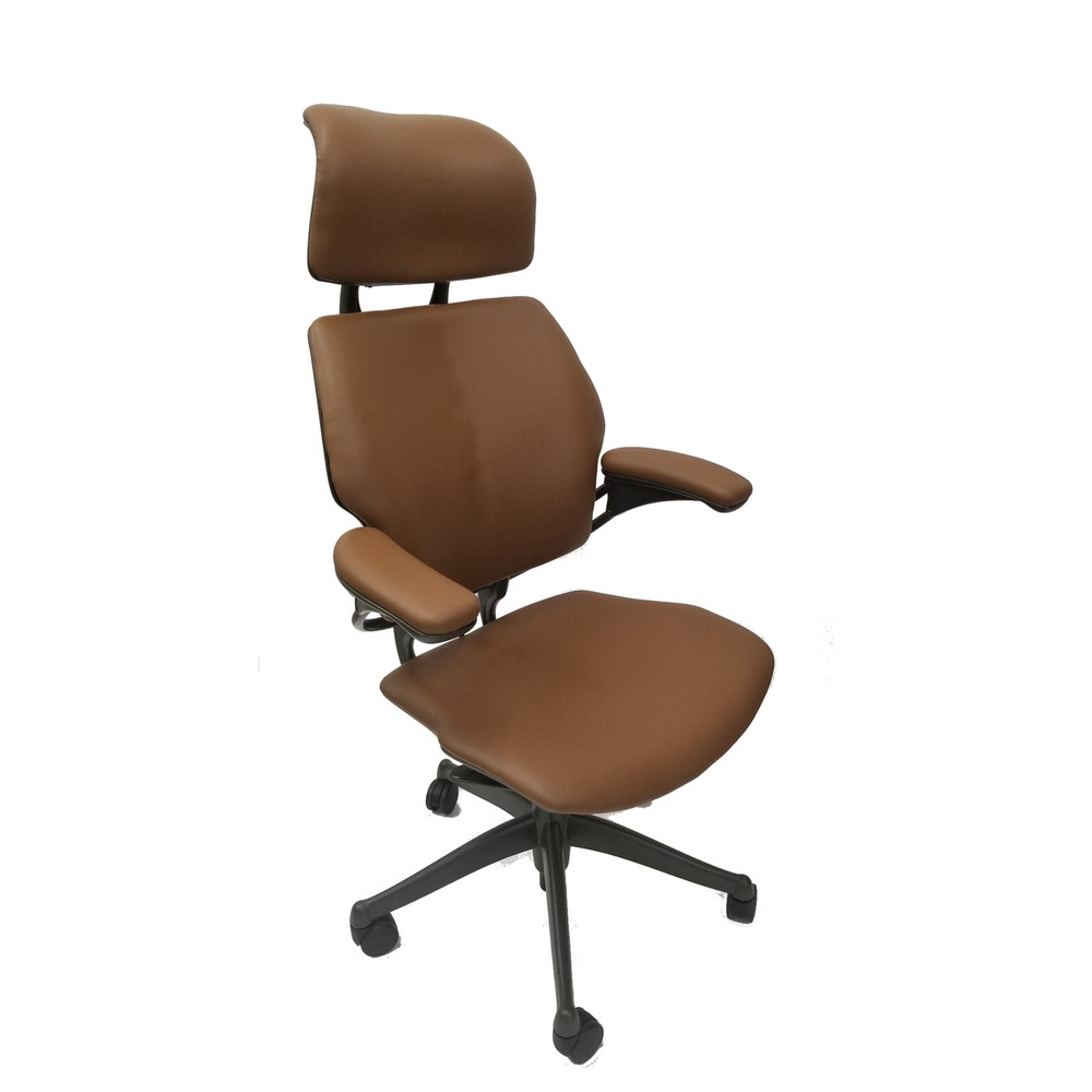 Freedom Furniture Head Office Humanscale Freedom Chair Fully Adjustable Model With Headrest In Light Brown Open Box