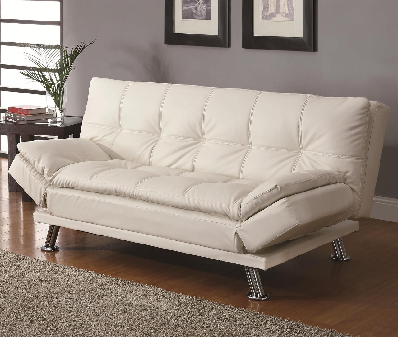 Good Quality Sofa Bed Sale Coaster Dilleston Contemporary Sleeper Sofa Bed In White