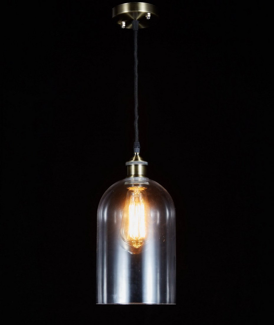 Galaxy Lighting New Galaxy Modern Industrial Edison Vintage Style Pendant 1 Light Hanging Ceiling Lighting Lamp 665