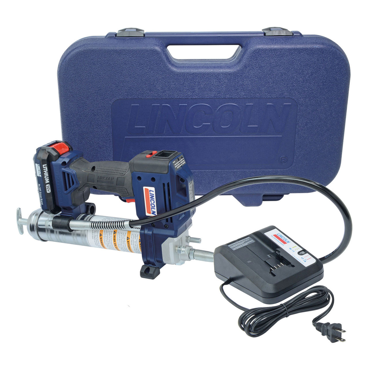 Electric Grease Gun Lincoln Industrial Model 1882 Powerluber 20v Lithium Ion Grease Gun Kit