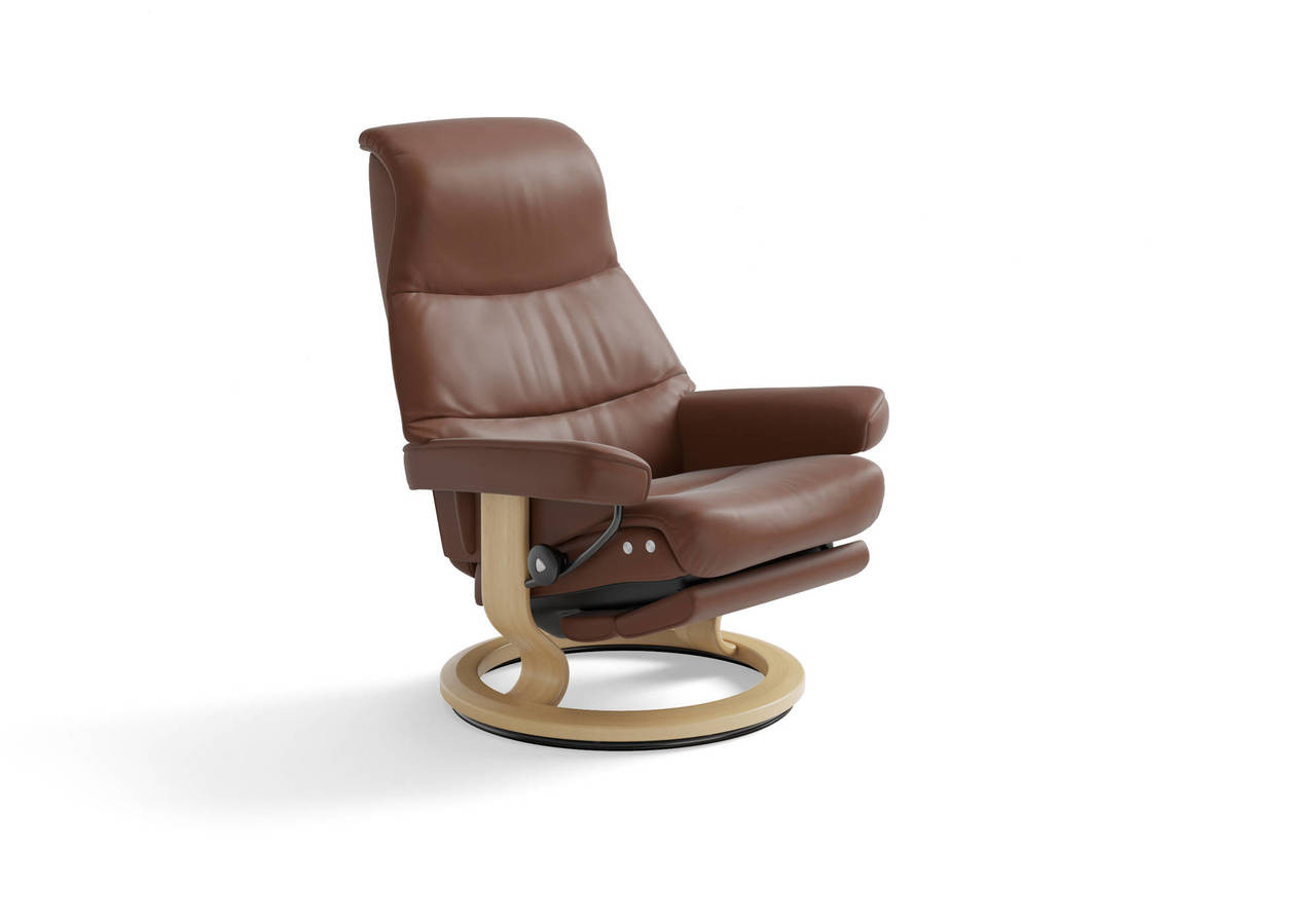 Stresless Ekornes Stressless View Recliner Signature Series Or Legcomfort Powered Ottoman
