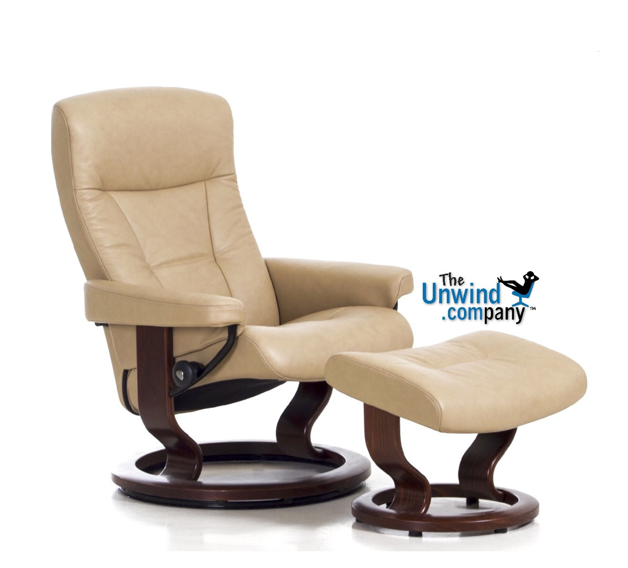 Stresless Ekornes Stressless President Large Recliner And Ottoman