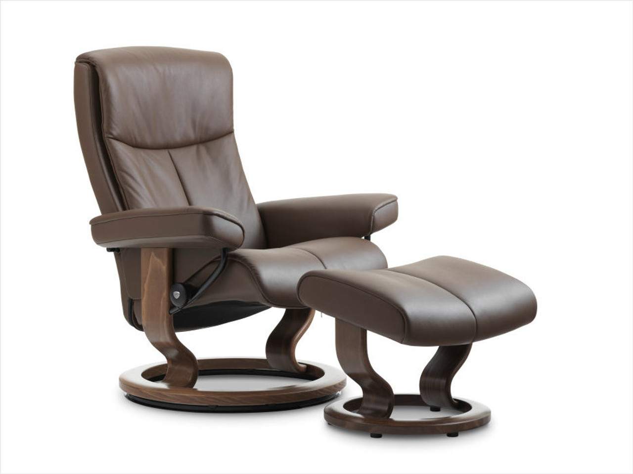 Stressless Video Stressless Peace With Classic Base Medium Recliner And Ottoman