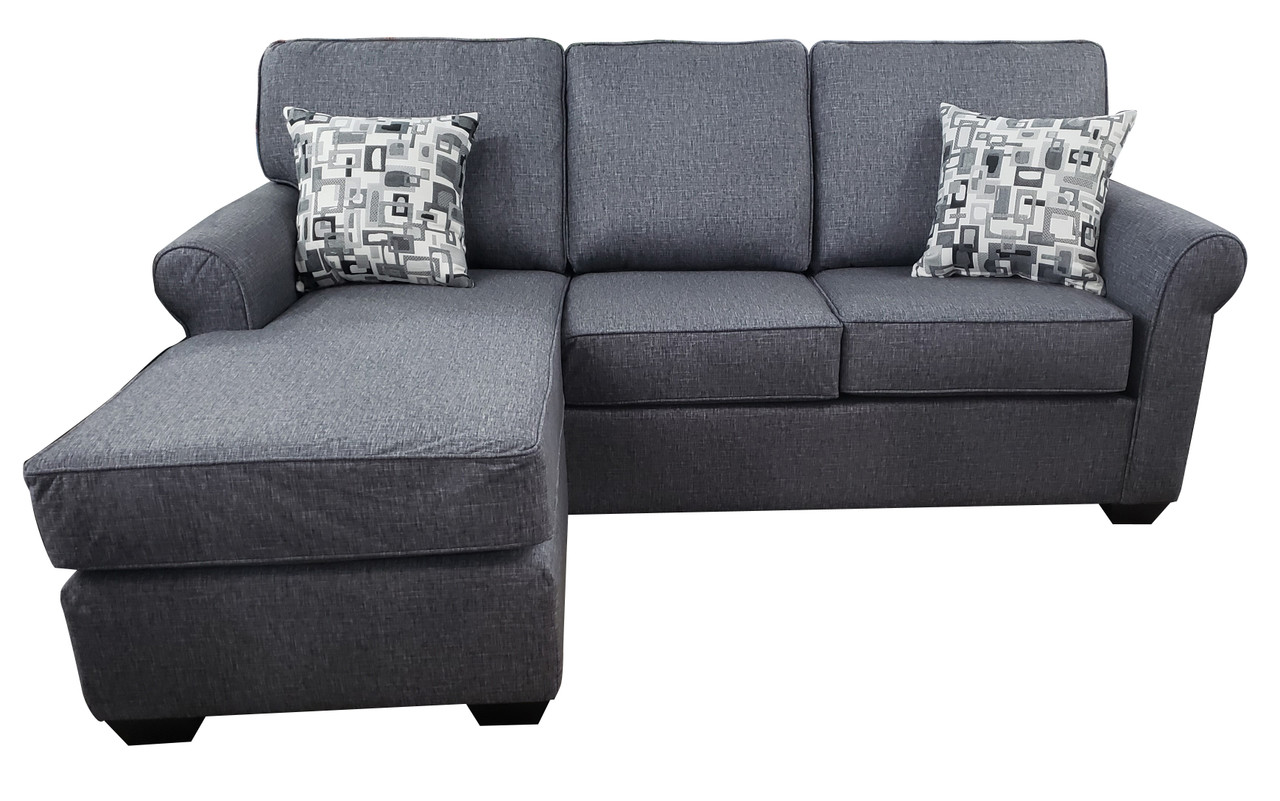 Sonic Fabric Reversible Queen Sectional Sofa Bed Grey Pallucci Furniture